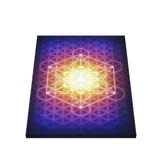 O cubo/flor de Metatron do impressão das canvas da