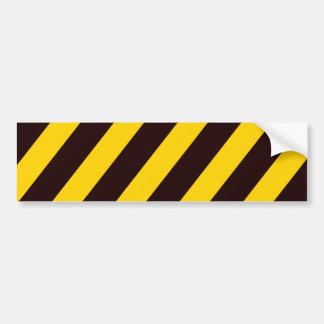 O cuidado listra - amarelo preto - o perigo da adesivo para carro