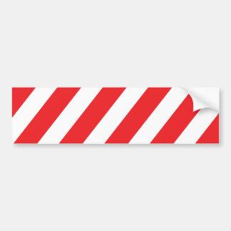 O cuidado listra - branco vermelho - a segurança adesivo para carro