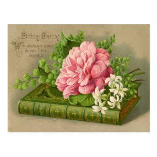 O cumprimento do aniversário do vintage deseja cartão postal