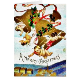 O cumprimento do Natal com um anjo joga a música Cartões