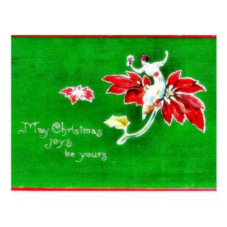 O cumprimento do Natal com um anjo joga a música Cartões Postais