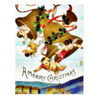O cumprimento do Natal com um anjo joga a música Cartoes Postais