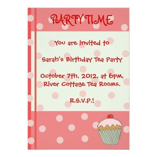 O cupcake convida convites personalizados