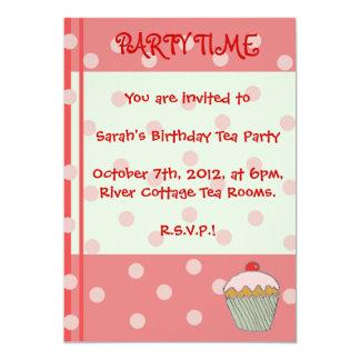 O cupcake convida convite 12.7 x 17.78cm