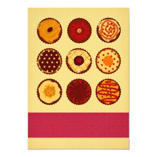 O cupcake de creme convida convite 12.7 x 17.78cm