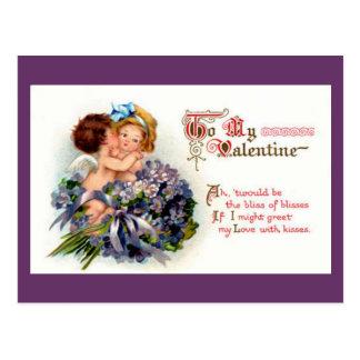 O Cupido caçoa o cartão