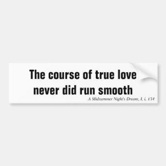 O curso do amor verdadeiro nunca funcionou liso adesivo para carro