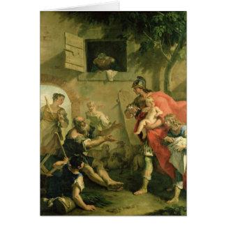 O Cyrus infantil com o pastor Cartão Comemorativo