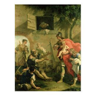 O Cyrus infantil com o pastor Cartão Postal