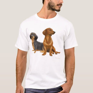 O Dachshund persegue o t-shirt Camiseta