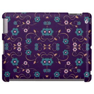 O damasco floral azul cor-de-rosa Ornaments capas Capa Para iPad