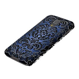 o damasco régio do efeito 3D azul/preto Capa Para Galaxy S5