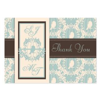 O damasco Tweets TY Notecard Cartão De Visita Grande
