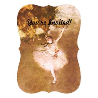 O dançarino de balé desgaseifica a pintura convite 12.7 x 17.78cm