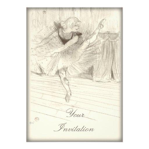 O dançarino de balé, Toulouse-Lautrec Convite Personalizado
