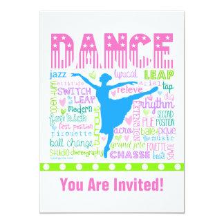 O dançarino Pastel personalizado exprime a Convite 12.7 X 17.78cm