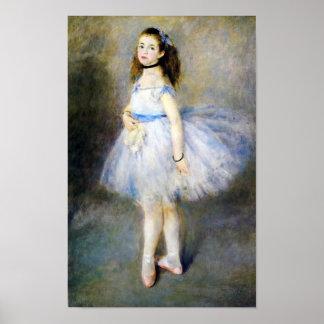 O dançarino por belas artes de Auguste Renoir Pôster