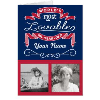 o de 80 anos o mais adorável do mundo do cartão