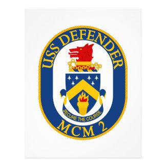 O defensor de USS - MCM 2 - fixe o curso Modelos De Papel De Carta