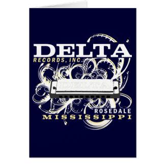 O delta grava o Inc Cartão Comemorativo