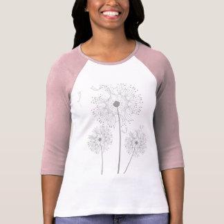 O dente-de-leão das flores floresce o destino do camiseta