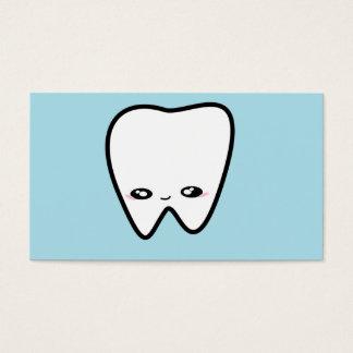 O dentista do dente de Kawaii caçoa o higienista Cartão De Visitas