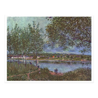 O der de Alfred Sisley Weg alten Fähre dentro em 1 Cartao Postal