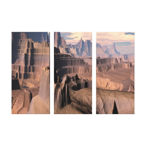 O deserto do envoltório das canvas de Kytherial do Impressão Em Tela