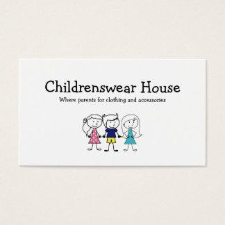O desgaste das crianças cartão de visitas