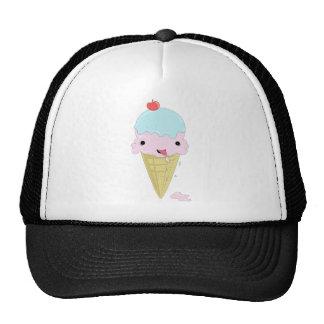 O design bonito das crianças adoráveis do sorvete  bonés