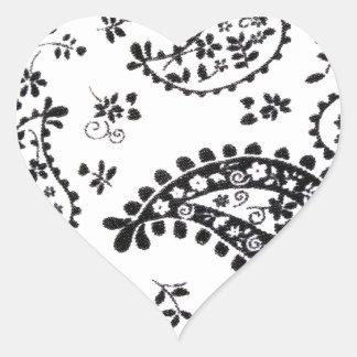 O design da arte modela os azulejos clássicos adesivo coração