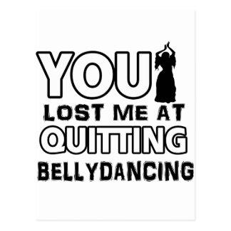 O design da dança de barriga fará um grande artigo cartão postal
