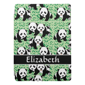 O design gráfico de ursos de panda personaliza capa para iPad pro