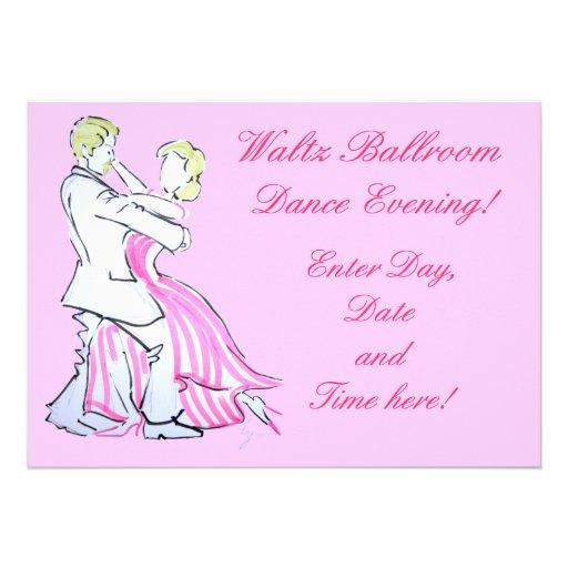 O design gráfico dos dançarinos da valsa convites personalizados