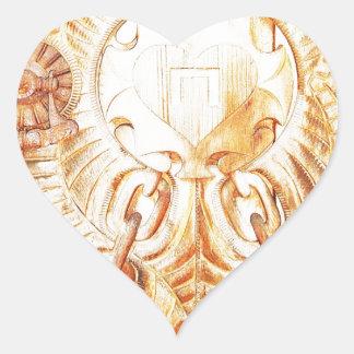 O design implora a cinzeladura do texto natural de adesivo coração