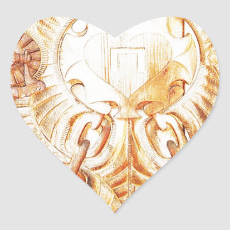 O design implora a cinzeladura do texto natural de adesivo de coração