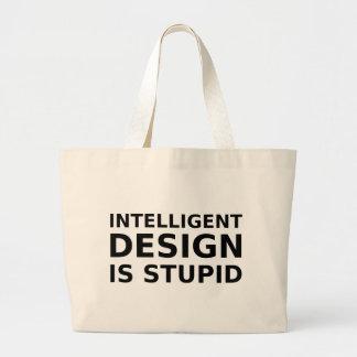 O design inteligente é estúpido sacola tote jumbo