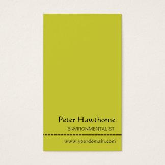 O design liso minimalista, mínimo verde cartão de visitas
