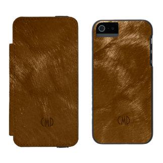 O design metálico de cobre de Brown escovou o