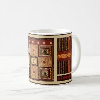 O design tribal antigo   personaliza com monograma caneca de café