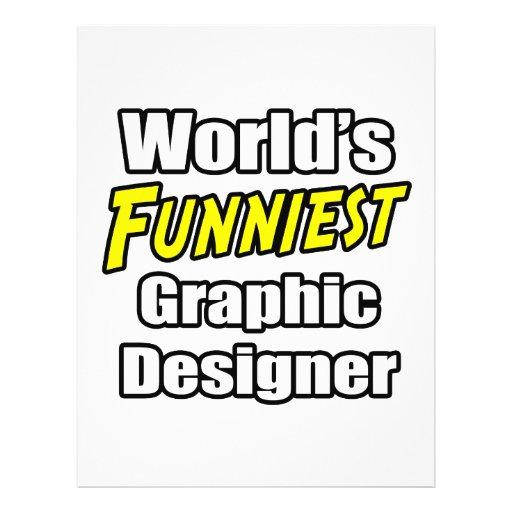 O designer gráfico o mais engraçado do mundo panfletos coloridos