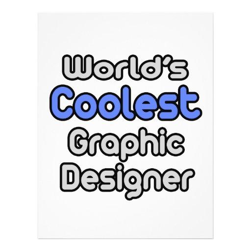 O designer gráfico o mais fresco do mundo modelo de panfletos