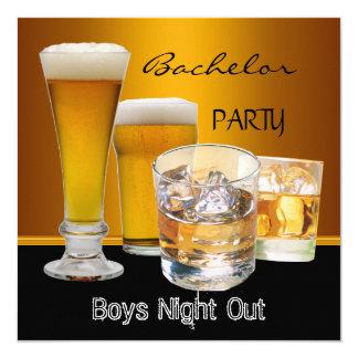 O despedida de solteiro bebe a noite dos meninos convite quadrado 13.35 x 13.35cm