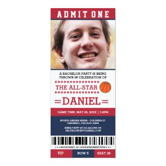 O despedida de solteiro do basquetebol convida convite 10.16 x 23.49cm