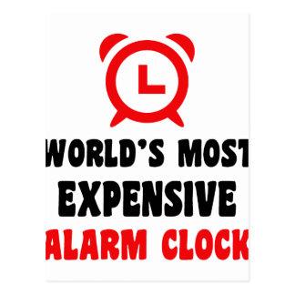 o despertador o mais caro do mundo cartão postal