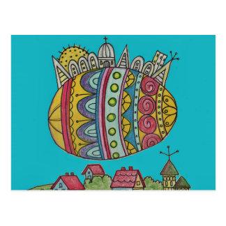 O destino da arte popular do ucraniano do mundo cartão postal