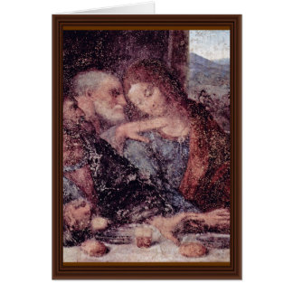 O detalhe da última ceia por Leonardo da Vinci Cartão