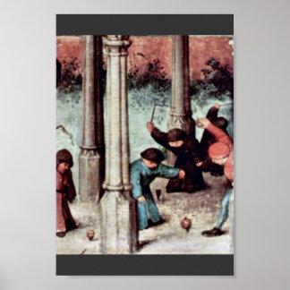 O detalhe dos jogos das crianças por Bruegel D. Ä. Posteres