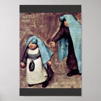 O detalhe dos jogos das crianças por Bruegel D. Ä. Pôsteres
